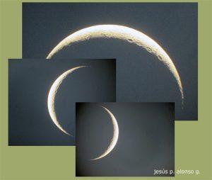 Vistas de la Luna con distintos ángulos de rotación